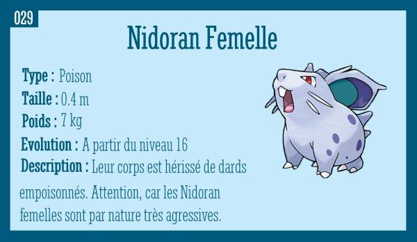 Nidoran Femelle, Nidorina et Nidoqueen