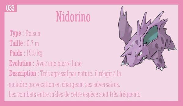 Nidoran Mâle, Nidorino et Nidoking