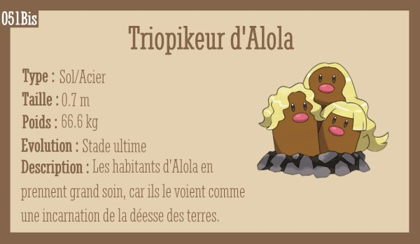 Taupiqueur d'Alola et Triopikeur d'Alola