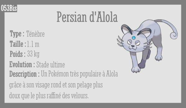 Miaouss d'Alola et Persian d'Alola