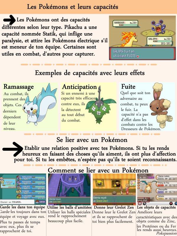 Les Pokémons et leurs capacités
