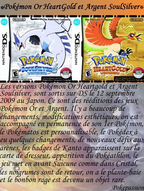 Pokémon Or HeartGold et Argent SoulSilver