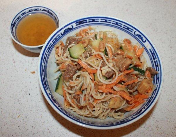 Bo bun - Salade viande et vermicelles - Recette Vietnamienne