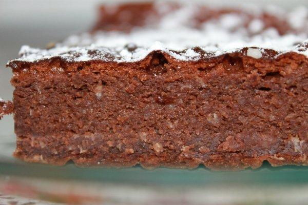 FONDANT au CHOCOLAT avec du MASCARPONE et de la NOIX de COCO râpée