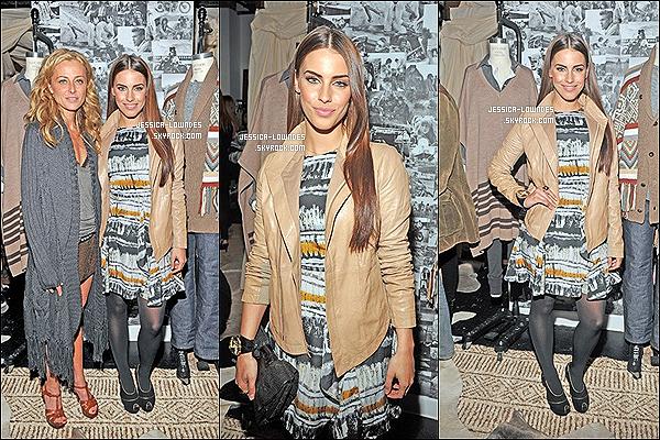""". 17 Novembre : Jessica était présente à l'évenement """" Wired Store Opening Night Party 2011 """" . Plus tard, Jessy s'est rendue à la """" Haute Hippie Launches Haute Hoodie Party , toujours avec la même tenue, TOP ou FLOP ? ."""