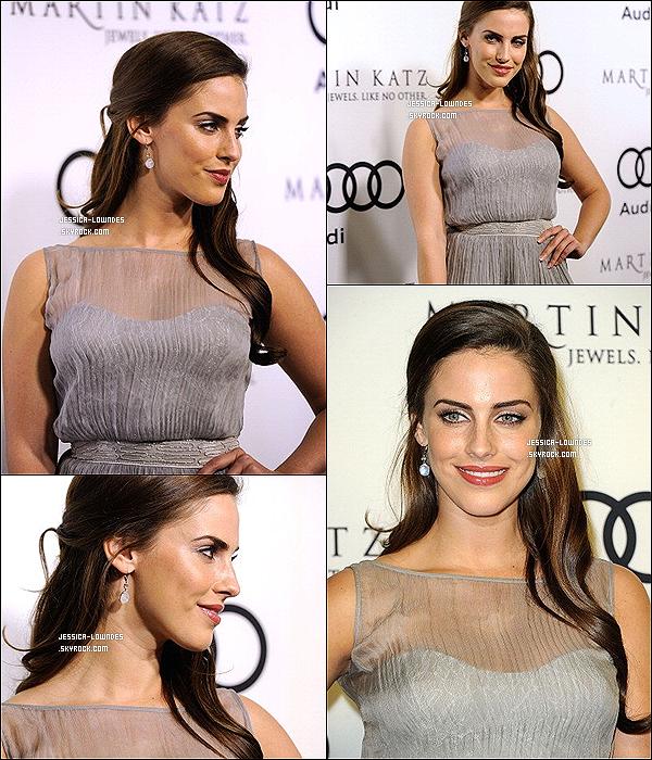 """. 08/01/12 : Jessica était présente à l'évènement """"Audi et Kick Off Golden Globes Week 2012"""" par Martin Katz.."""