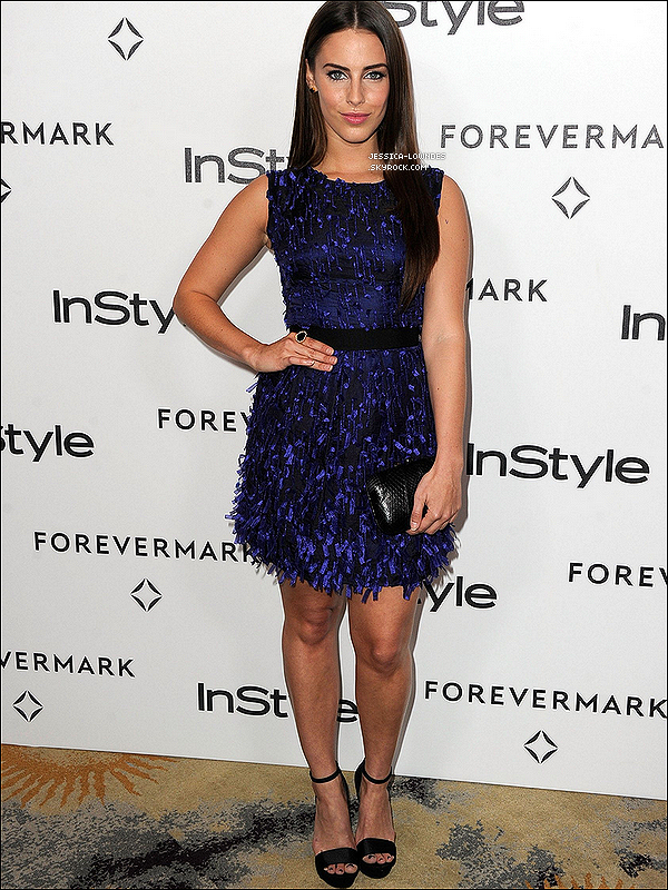 ". 10/01/12 : Miss Lowndes foulait le tapis rouge du ""Forevermark And InStyle Golden Globes Event"", Top ou Flop ?."