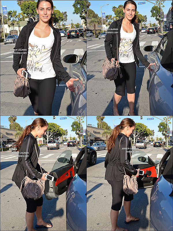 . 4 avril 2012 : Jessica a été vue à West Hollywood en californie pour faire je-ne-sais-pas-quoi ! .