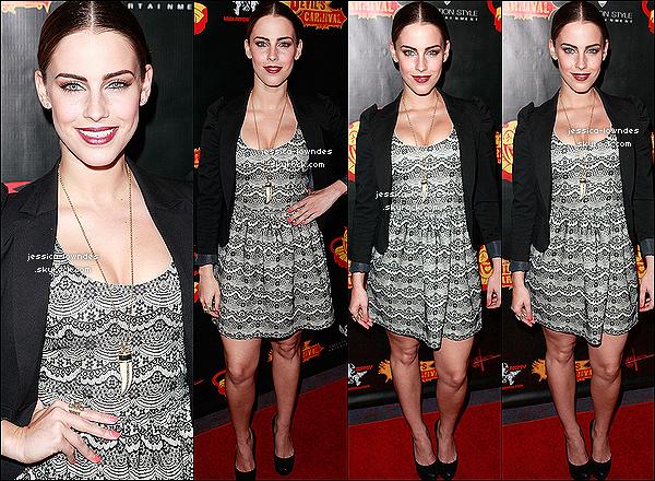 05/04/2012 :  Jessica était présente à la première du «The Devil's Carnival » à Los Angeles pour son rôle qui est Tamara.