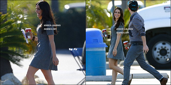 06/11/12 : Devinez qui est allée tourner une scène pour la série 90210 ? ... Oui Jessica Lowndes.