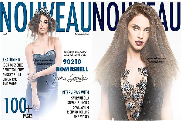 """Nouveau shooting de Jessica Lowndes pour le magasine """"Nouveau"""" datant de 2013, la jeune femme a déclaré sur Twitter que la Renaissance l'a inspiré."""