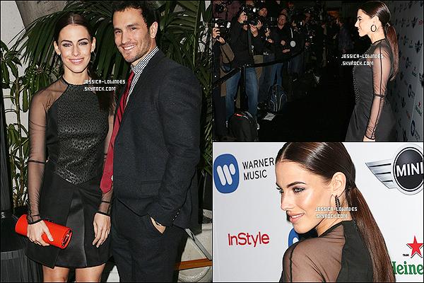 """10/02/13 : Notre belle Lowndes célébrait le Grammy 2013, organisé par la maison de disque """"Warner Music""""."""