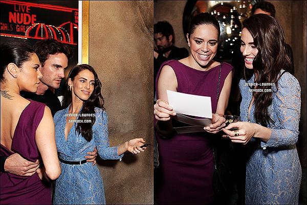 """19/02/13 : Jess' était prèsente à la célébration de la collection de la défunte Elizabeth Taylor chez le bijoutier """"BVLGARI""""."""