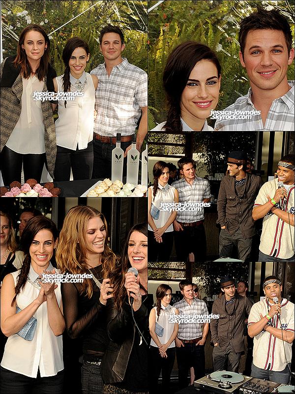 03 mars 2013 : Jessica était à la fête organisée par la CW pour fêter la fin de 90210 avec le cast de la série.