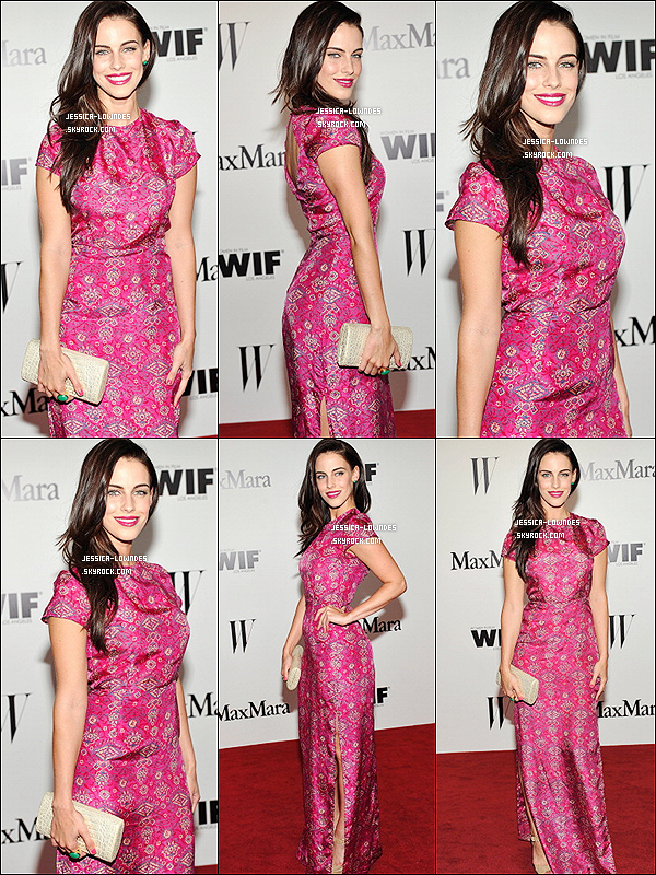 "11 juin 2013 : Jess' était au ""Max Mara Face of the Future Awards"" au Beverly Hills Hotel !"