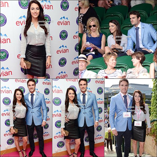 """4 JUILLET 2013    Jessica était au Wimbledon 2013, puis un peu plus tard la belle a était au """"Fashion Rules"""" Exhibition avec Thom."""