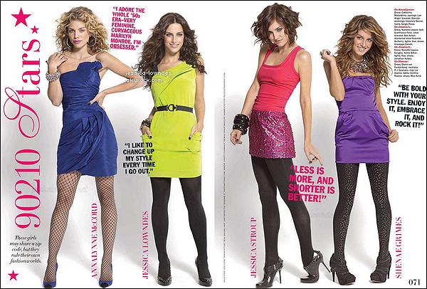 """Jess' et ses co-stars de 90210 participaient à un shooting pour le """"Seventeen Magazine"""" en decembre 2009."""