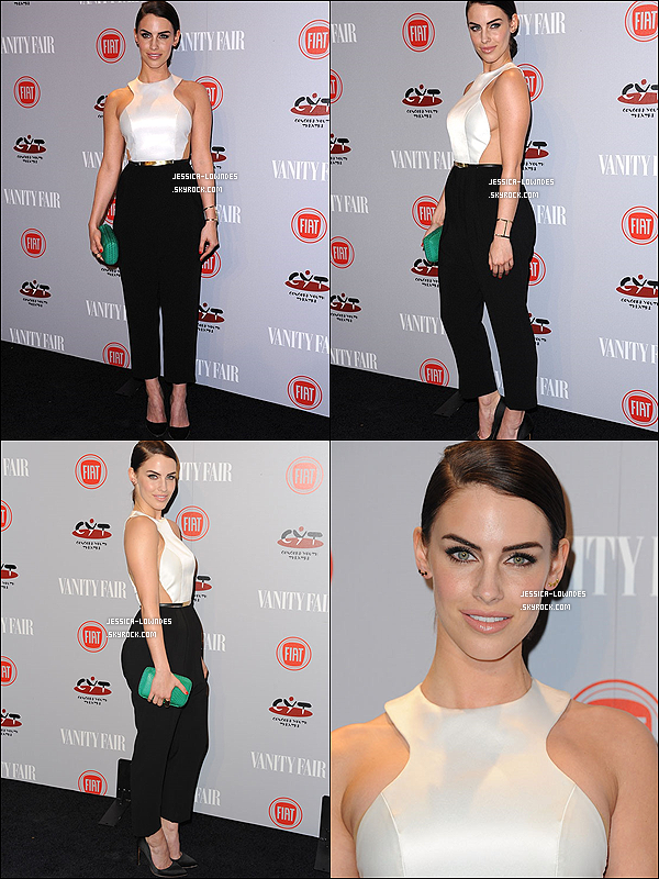 25 fév. 2014 : Miss Jessica Lowndes était à une fête organisé par Vanity Fair, dans Los Angeles.