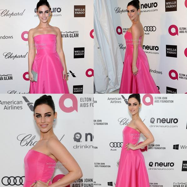 02/03/2014 : Jess' été au  «Academy Awards» pour une collecte d'argent organisée par Elton John à L.A.