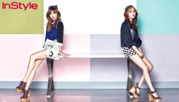 Ga Yoon & HyunA (4MINUTE) // InStyle [Mai 2013]