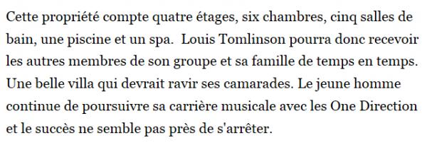 SCOOP : La nouvelle maison de Louis.