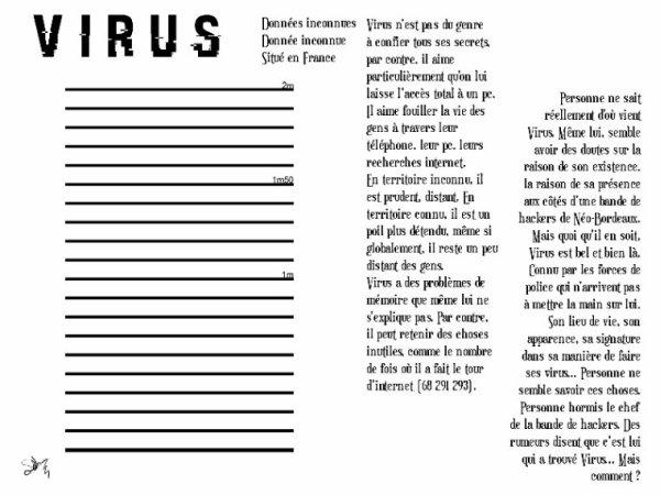 Le Virus - VIRUS ( Fiche RP )