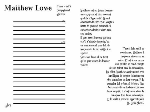 L'Apprenti - Matthew Lowe ( Fiche Réservé à Devi chérie )