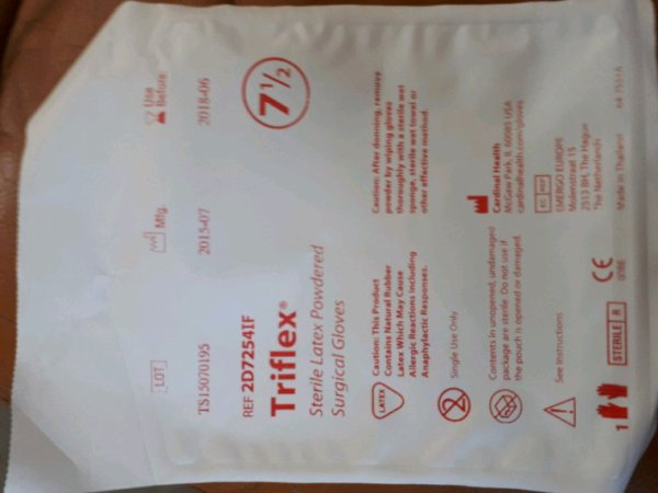 Gants stérile latex Triflex 2D7254IF cardinalhealth