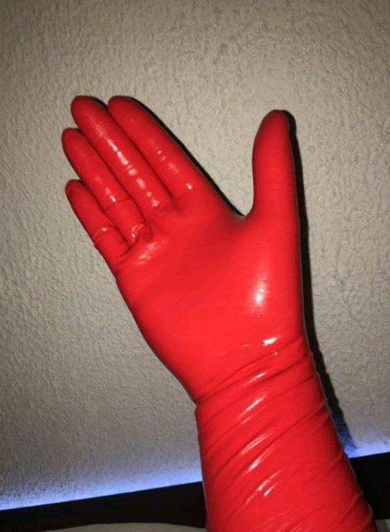 Gants nitrile shieldskin rouge