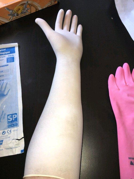 Gants sterile latex genicologique