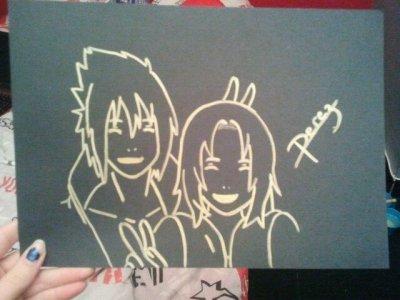 Sasuke et Sakura en or