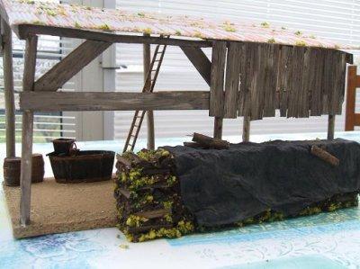 am nagement du hangar a bois par natol miniature agricole 88. Black Bedroom Furniture Sets. Home Design Ideas