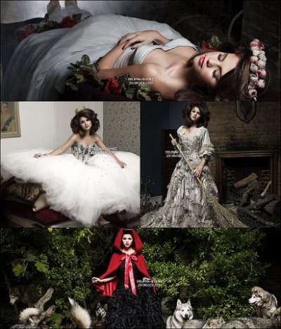 Selena Gomez plays the role of Snow White and Cinderella   selena gomez joue le role de blanche neige et cendrillon