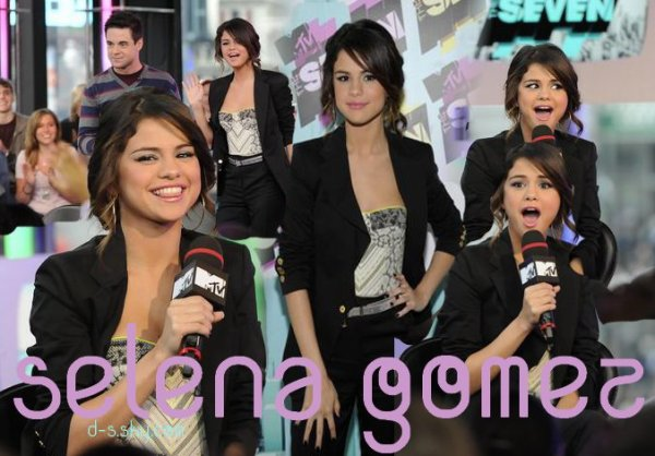 Selena Gomez MTV The Seven le Mercredi 16 mars 2011.
