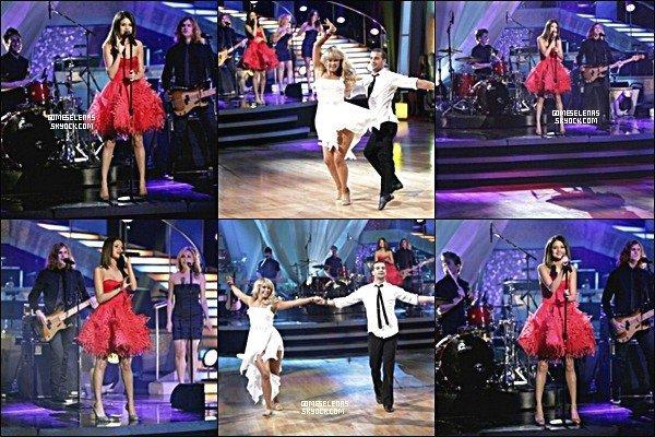 5 avril : Notre jolie Selena Gomez à l'émission télévisée « Dancing with the stars »