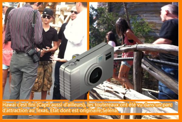 selena gomez et justin biber au parc.en texas.