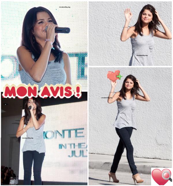 "le 21 juin selena continue sa tourne Monte Carlo promotional ""Mall"" Tour. a Miami International Mall."