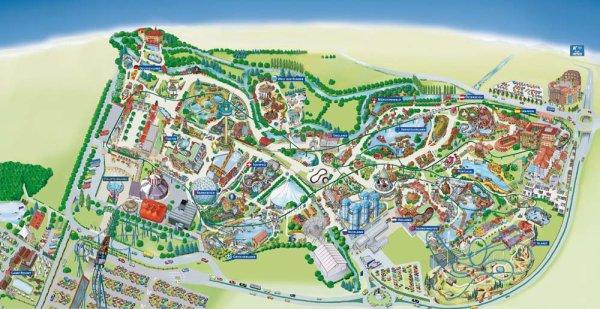 Plan d'Europa Park 2011