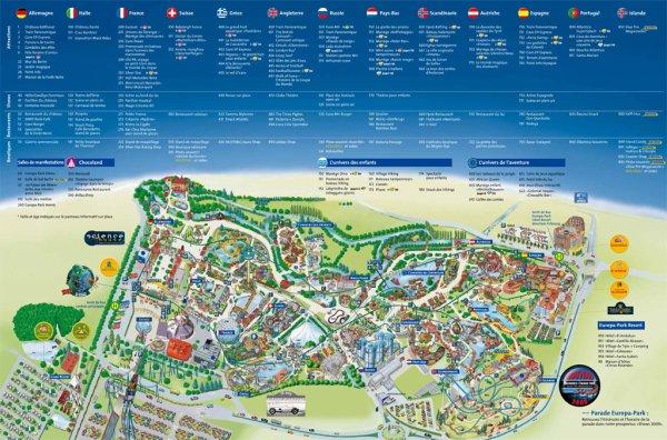 Plan d'Europa Park 2010
