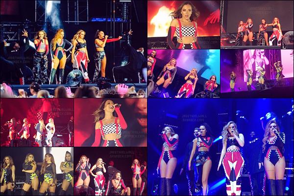 - May, 21/17 - Les Little Mix ont performés leur premier concert de leur tournée au «Wirral Live festival ».  Côte tenue : ★ ★ ☆ ☆ ☆ - Vraiment pas ma tenue preferée du Glory Days Tour – Summer Shoutout Tour! Un BOF!   -