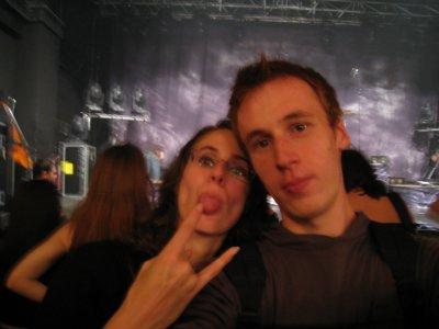 au concert d'Apocalyptica