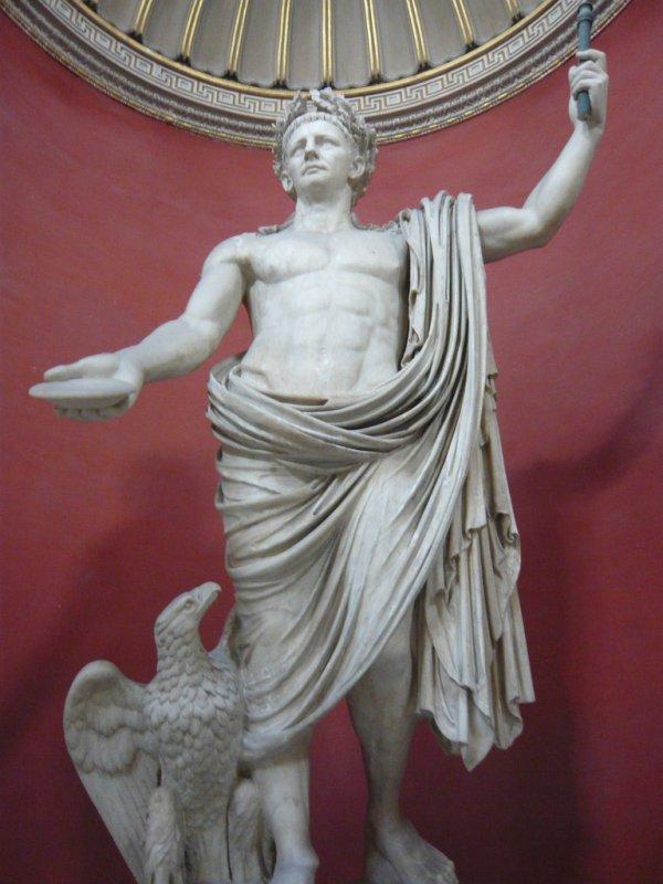 La statue du roi Picus