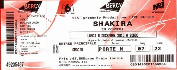 Ticket Shakira