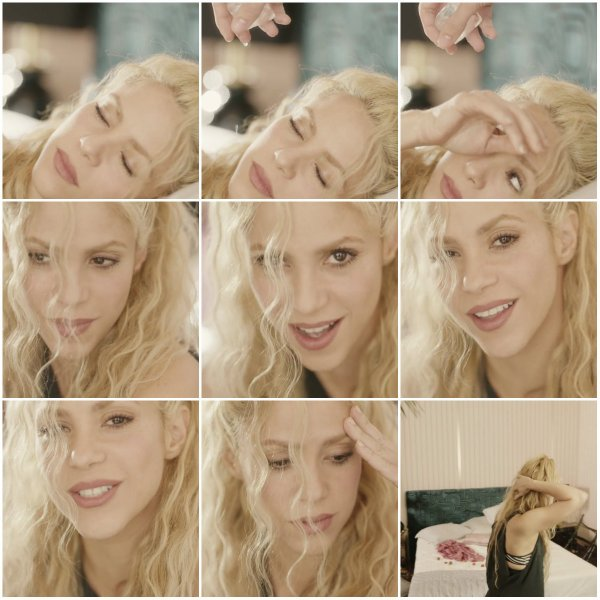 """Captures écran lors du tournage du clip de """"Me Enamoré"""""""