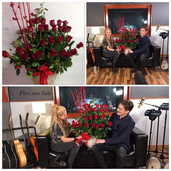 Shakira s'entretient avec Xavi Martinez (le 23/05/2017)