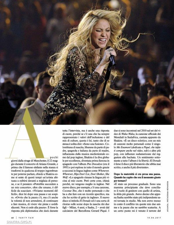 """Interview + photoshoot pour le magazine italien """"Vanity Fair"""" (édition Juin 2017)"""
