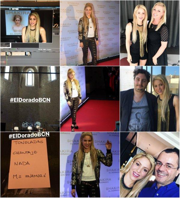 Shakira a donné plusieurs interviews à Barcelone pour la soirée de lancement  de son dernier album (le 09/06/2017)