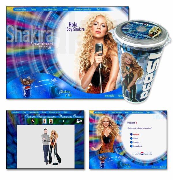 "Shakira pour la campagne publicitaire ""Pepsi"" (2000-2001)"