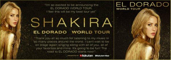 Shakira ajoute une seconde date à l'AccorHotels Arena de Paris ! (le 20/07/2017)