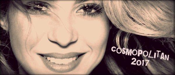"""Shakira en couverture pour le magazine hongrois """"Cosmopolitan"""" (le 08/08/2017)"""